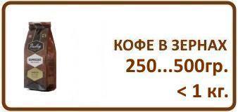 1. Кофе в зернах 250 гр