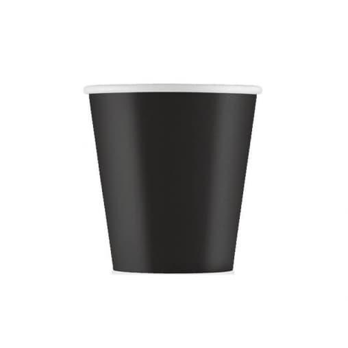 Бумажный стакан Eco Cups Черный d=63 110мл