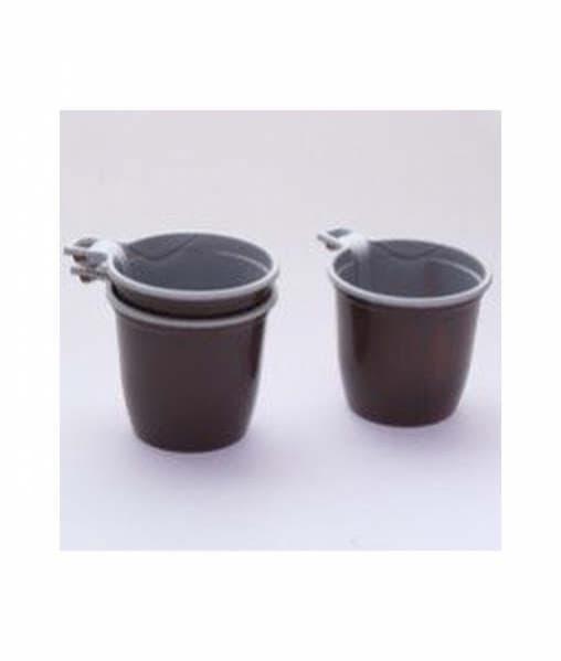 Чашка кофейная коричнево-белая ЭКО 200мл