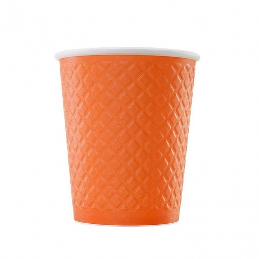 Бумажный стакан Waffle цв. микс 2-слойный d=80 250мл