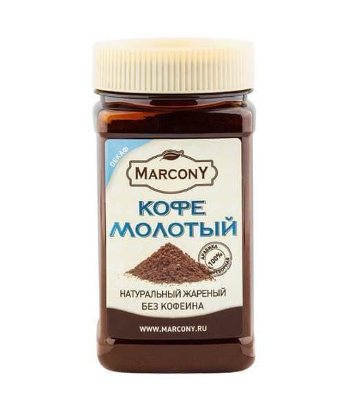 Кофе молотый Marcony Декаф 150 гр (0,15 кг) п/б