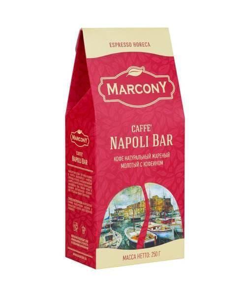 Кофе молотый Marcony Espresso HoReCa Caffe Napoli Bar 250 гр (0,25 кг)