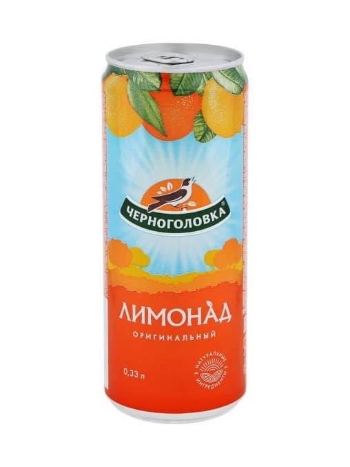 Черноголовка Лимонад оригинальный 330мл ж/б