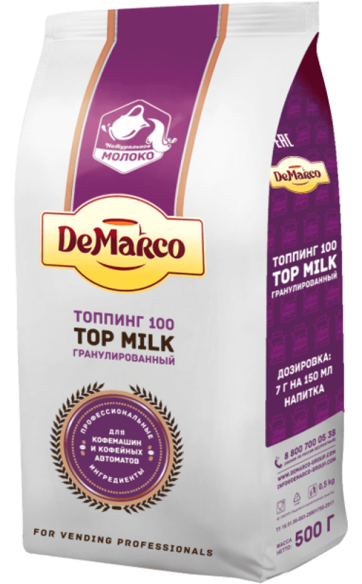 Топпинг в гранулах DeMarco 100 Top milk 500 гр