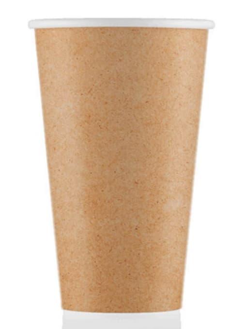 Бумажный стакан ECO CUPS Крафт d=90 500мл