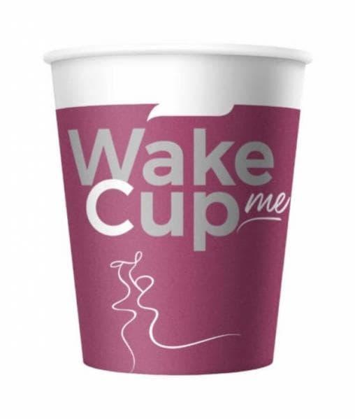 Бумажный стакан Wake Me Cup d=70 165мл