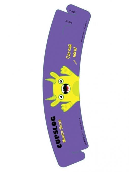 Держатель-манжета для стаканов Cupslog Monster Sketch фиолетовый 1350 шт. – цена, описание, фото