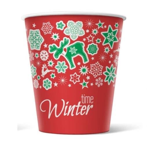 Бумажный стакан Winter Time d=80 250мл
