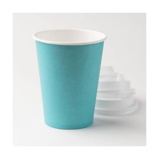 Бумажный стакан Fortecup Бирюзовый d=80 250мл