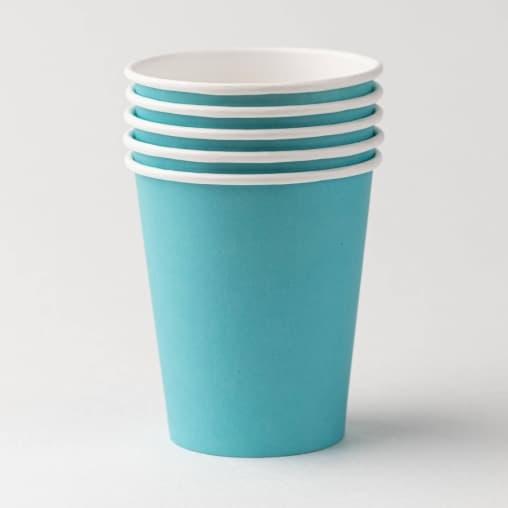 Бумажный стакан Fortecup Бирюзовый d=90 350мл