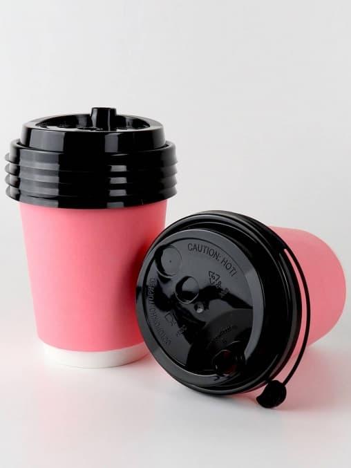 Бумажный стакан 2-слойный Розовый d=80 250мл
