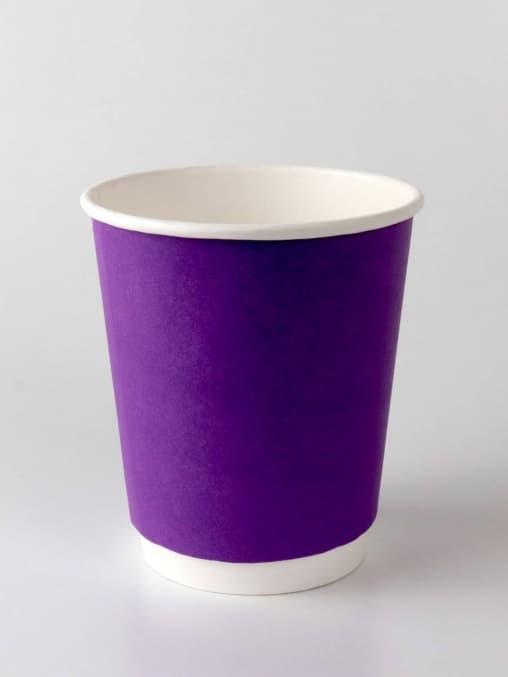 Бумажный стакан 2-слойный Фиолетовый d=80 250мл