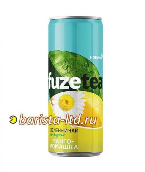 Чай FuzeTea зеленый чай Манго Ромашка 330 мл банка