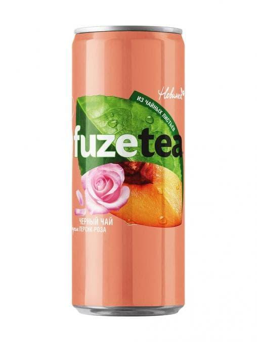 Чай FuzeTea Персик-Роза банка 330 мл