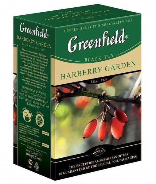 Чай черный Greenfield Barberry Garden листовой 100г