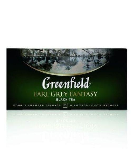 Чай черный Greenfield Earl Grey Fantasy (25 пак. х 2г)