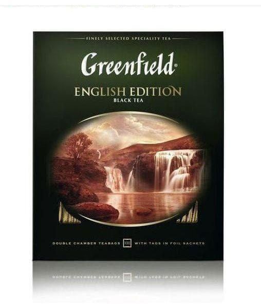 Чай черный Greenfield English Edition, 100 пак. х 2г
