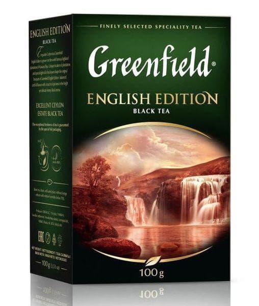 Чай черный Greenfield English Edition листовой 100г