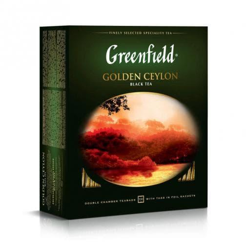 Чай черный Greenfield Golden Ceylon, 100 пак. х 2г