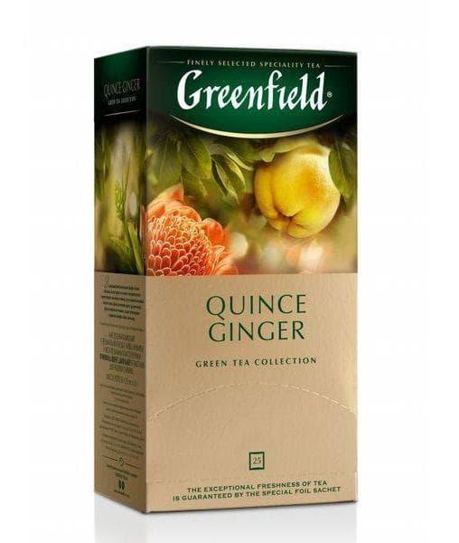 Чай зеленый Greenfield Quince Ginger (25 пак. х 2г)