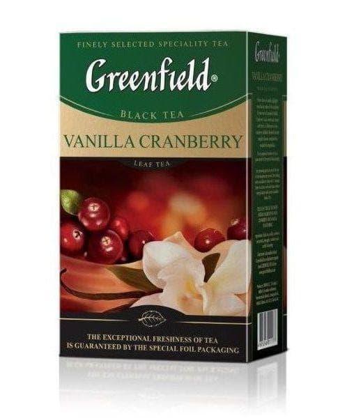 Чай черный Greenfield Vanilla Cranberry листовой 100г