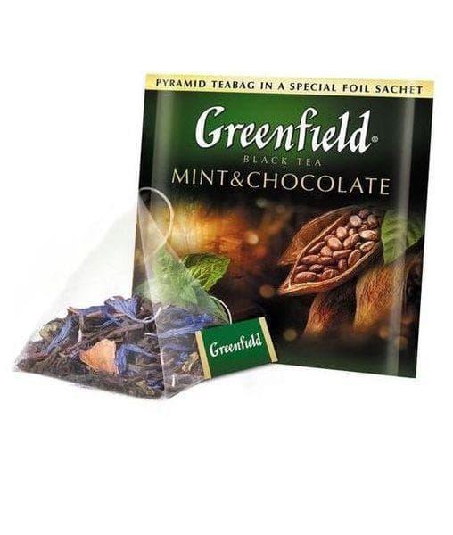 чай гринфилд мята и шоколад