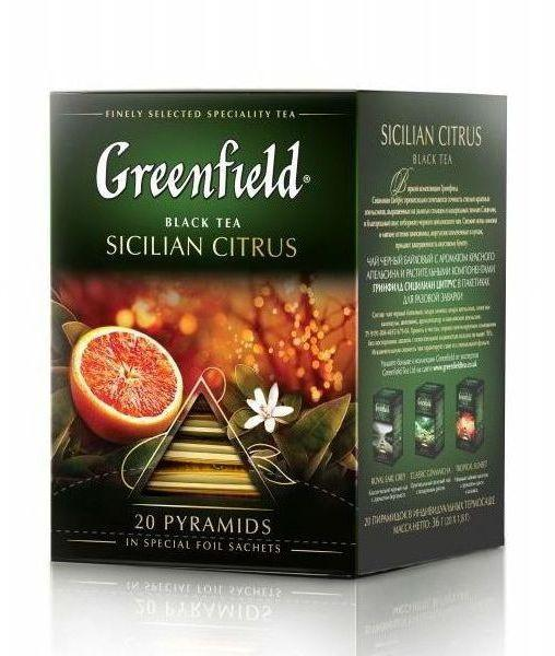 Чай черный Greenfield Sicilian Citrus (20 пирам. х 1,8г)