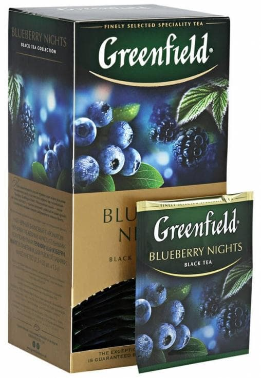 Чай черный Greenfield Blueberry Nights (25 пак. х 1,5г)