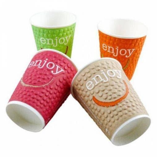 Бумажный стакан Huhtamaki NDW12 Enjoy 2-слойный d=90 300мл