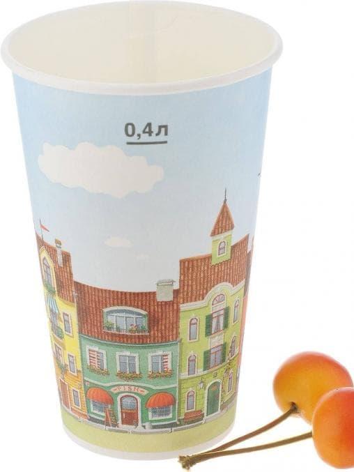 Бумажный стакан Huhtamaki SP16 Город d=90 400мл