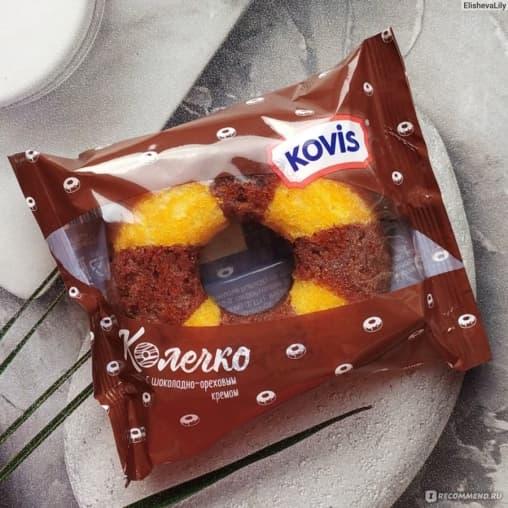 Бисквитное колечко KOVIS с шоколадно-ореховым кремом 40 г