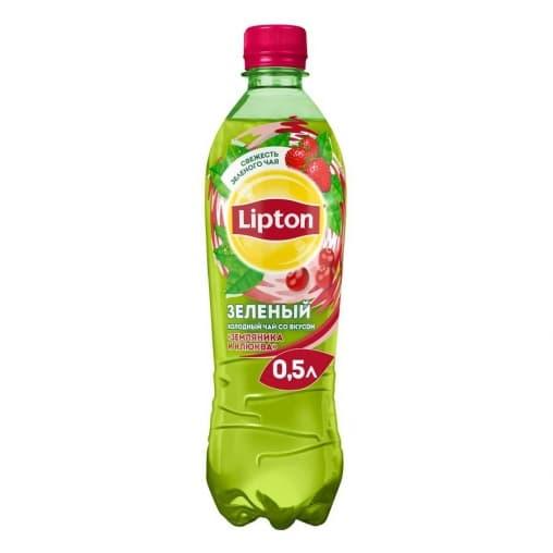 Чай Lipton зеленый Земляника и Клюква 500мл ПЭТ