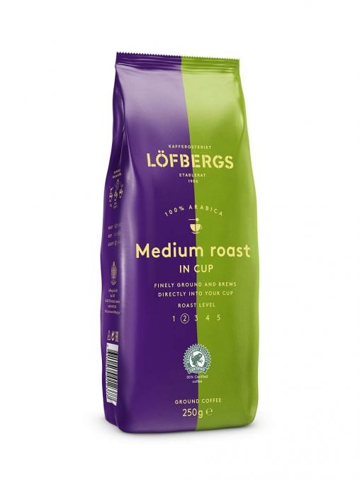 Кофе молотый Lofbergs Medium Roast in cup 500 г