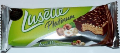 Вафли Lusette Platinum Лесной орех 50г