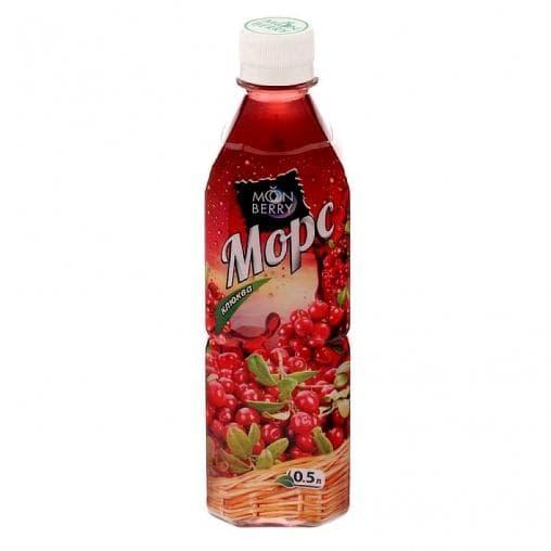 Морс Moonberry Клюква 500 мл ПЭТ 0,5л