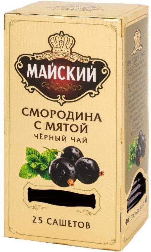 Чай черный Майский Смородина с Мятой 25 саше х 2г
