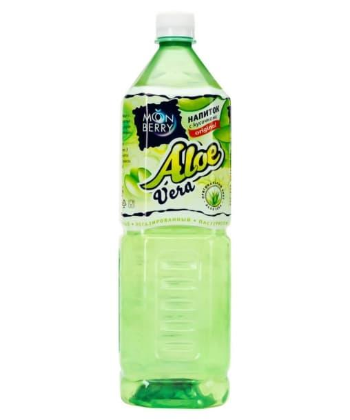 Напиток Moonberry Aloe Vera с кусочками алоэ 1500 мл ПЭТ