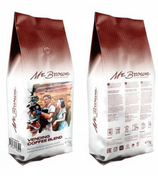 Кофе в зернах MrBrown Vending Coffee Blend 1000 г (1кг)