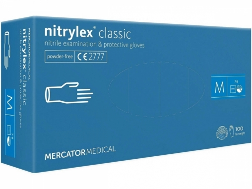 Перчатки Nitrylex classic смотровые неопудр. нитрил р. M