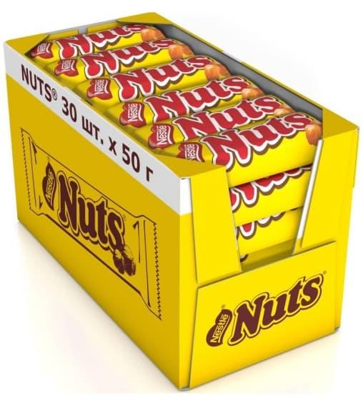 Батончик шоколадный Натс Nuts 50гр