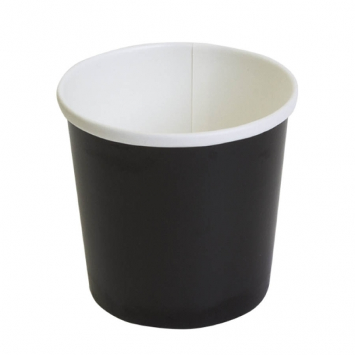 Контейнер бумажный круглый Черный d=90 300мл