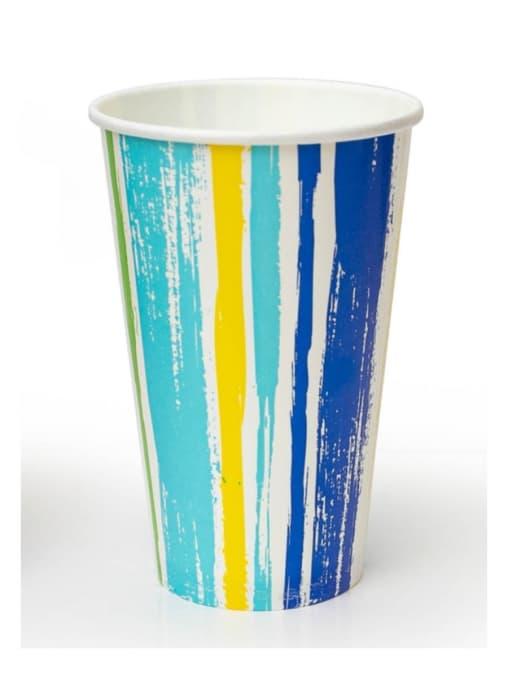 Бумажный стакан для холодного Полоски d=90 400мл