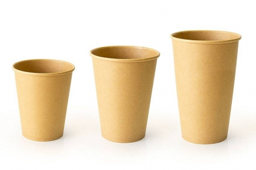 Бумажный стакан 2-сторонний Крафт d=90 300мл