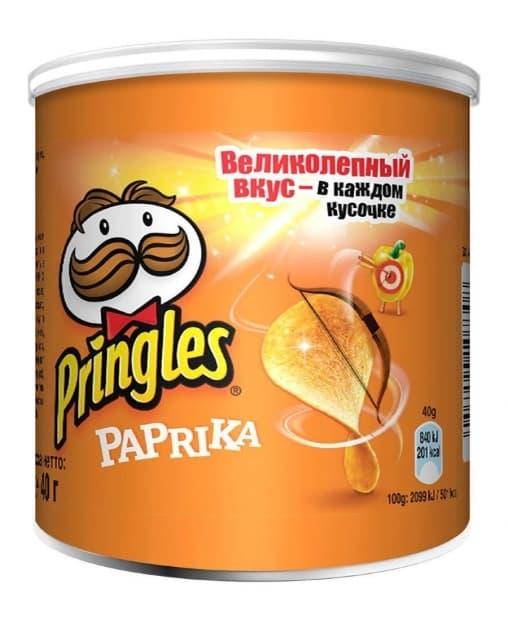 Чипсы Pringles Paprika 40 г