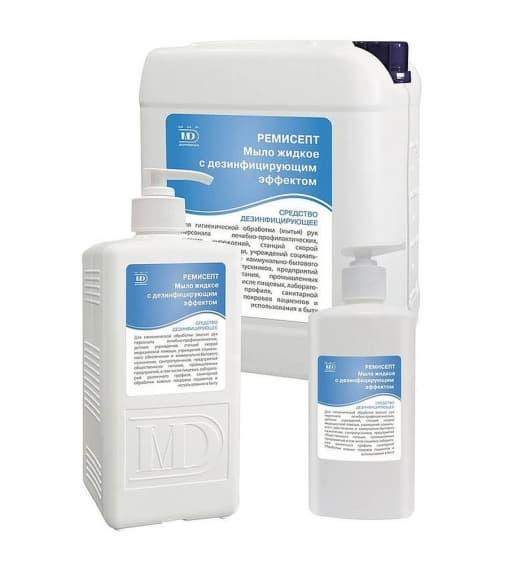 Ремисепт жидкое антибакт. мыло флакон с дозатором 1 л