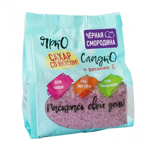 Сахар Ярко-Сладко Чёрная смородина 0,3 кг