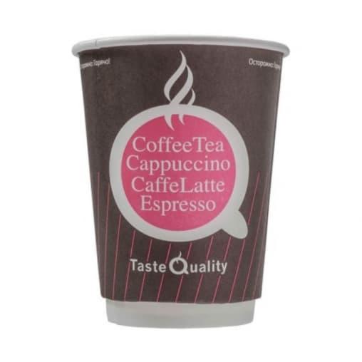 Бумажный 2-слойный стакан Taste Quality Pink d=90 300мл