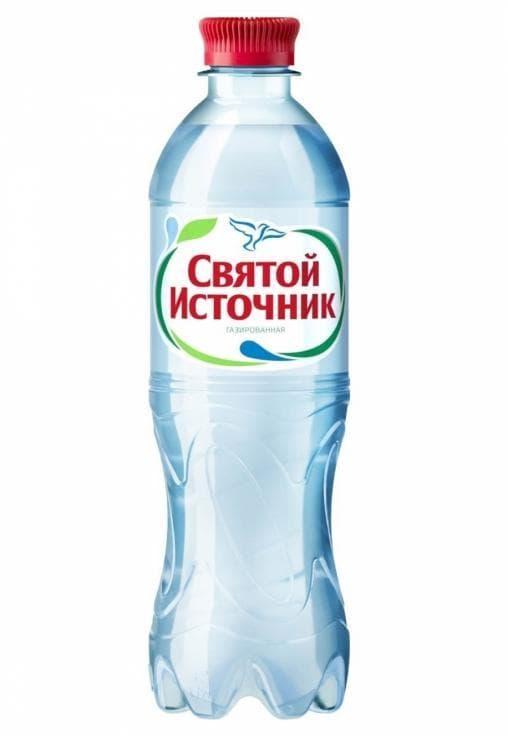 Вода питьевая Святой Источник газированная 500мл ПЭТ