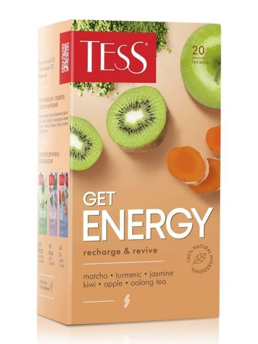 Чай TESS Get Energy Оолонг с добавками 1,5 г х 20 пак.