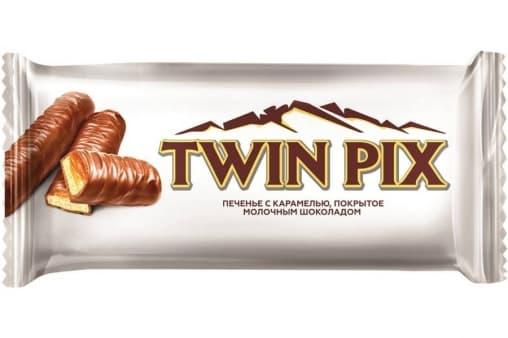 Печенье TWIN PIX с карамелью и молочным шоколадом 50 г